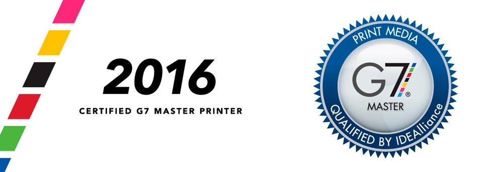 2016 Certified G7 Master Printer